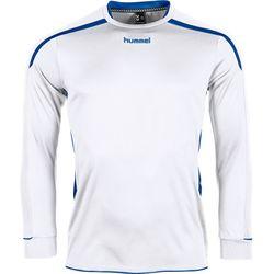 Voorvertoning: Hummel Preston Voetbalshirt Lange Mouw - Wit / Royal