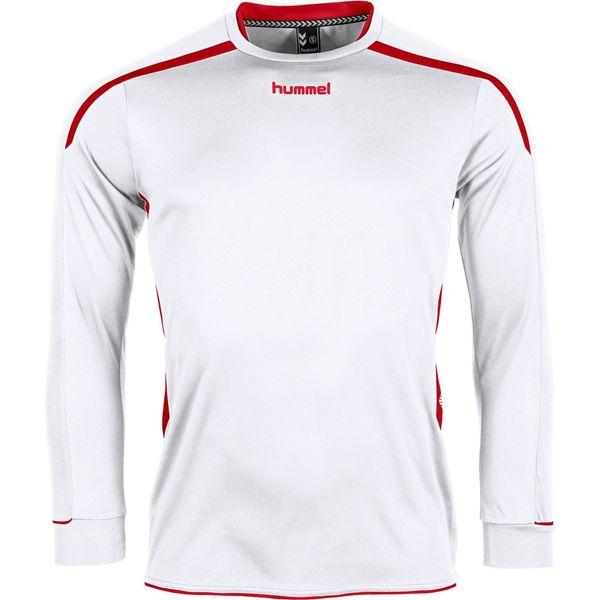 Hummel Preston Voetbalshirt Lange Mouw Kinderen - Wit / Rood