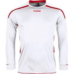 Voorvertoning: Hummel Preston Voetbalshirt Lange Mouw Kinderen - Wit / Rood