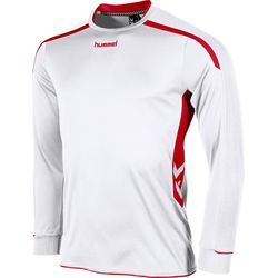 Hummel Preston Voetbalshirt Lange Mouw - Wit / Rood