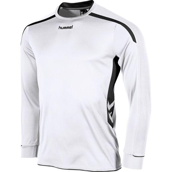 Hummel Preston Voetbalshirt Lange Mouw Kinderen - Wit / Zwart