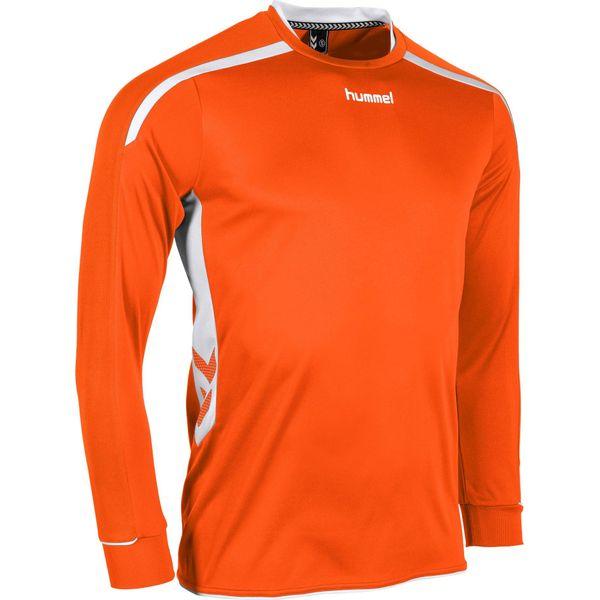 Hummel Preston Voetbalshirt Lange Mouw Kinderen - Oranje / Wit