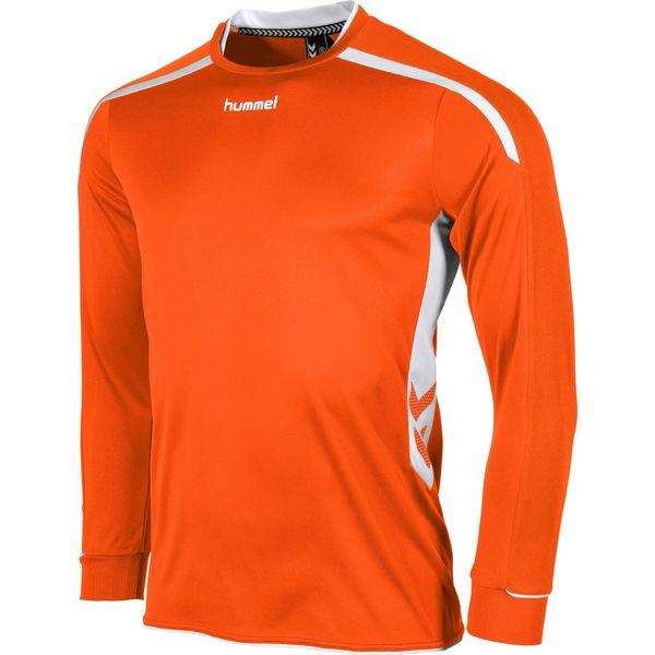 Hummel Preston Voetbalshirt Lange Mouw - Oranje / Wit