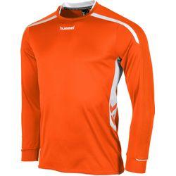 Voorvertoning: Hummel Preston Voetbalshirt Lange Mouw - Oranje / Wit