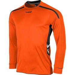 Hummel Preston Voetbalshirt Lange Mouw Heren - Oranje / Zwart