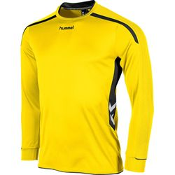 Voorvertoning: Hummel Preston Voetbalshirt Lange Mouw - Geel / Zwart