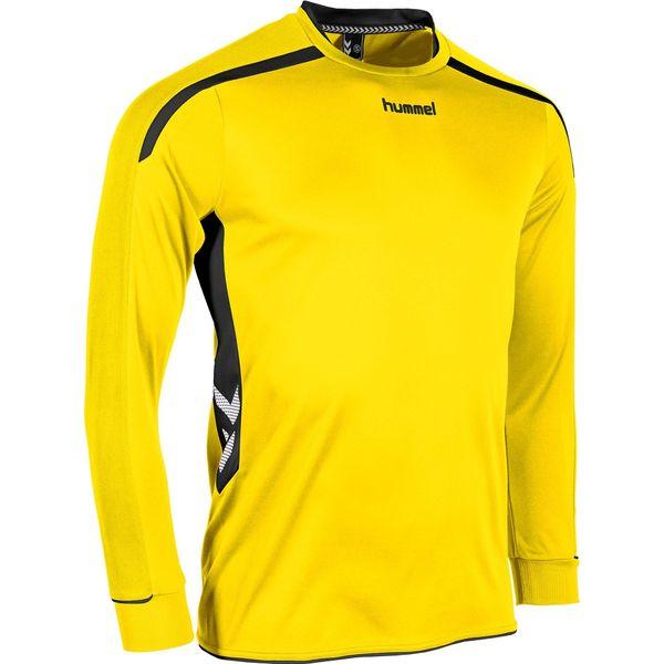 Hummel Preston Voetbalshirt Lange Mouw - Geel / Zwart
