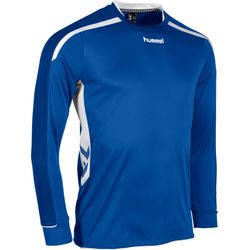 Voorvertoning: Hummel Preston Voetbalshirt Lange Mouw - Royal / Wit