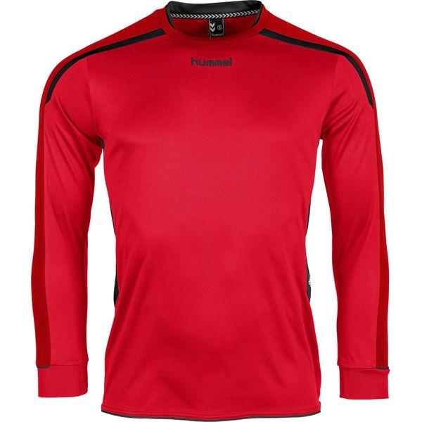 Hummel Preston Voetbalshirt Lange Mouw Kinderen - Rood / Zwart