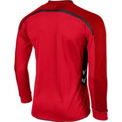 Voorvertoning: Hummel Preston Voetbalshirt Lange Mouw Kinderen - Rood / Zwart