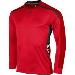 Hummel Preston Voetbalshirt Lange Mouw - Rood / Zwart