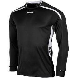 Hummel Preston Voetbalshirt Lange Mouw Heren - Zwart / Wit