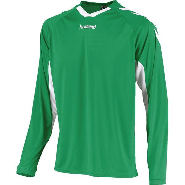 Hummel Everton Voetbalshirt Lange Mouw Kinderen - Groen / Wit