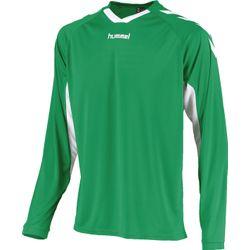 Voorvertoning: Hummel Everton Voetbalshirt Lange Mouw Heren - Groen / Wit