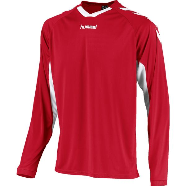 Hummel Everton Voetbalshirt Lange Mouw Kinderen - Rood / Wit
