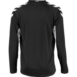 Voorvertoning: Hummel Everton Voetbalshirt Lange Mouw Kinderen - Zwart / Wit