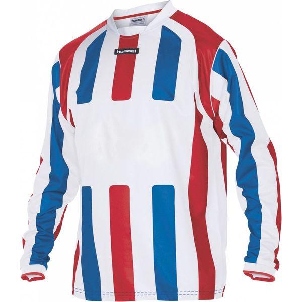 Hummel Atletico Voetbalshirt Lange Mouw - Wit / Rood / Royal