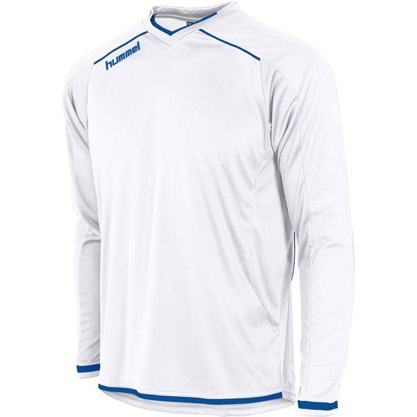 Hummel Leeds Voetbalshirt Lange Mouw Kinderen - Wit / Royal