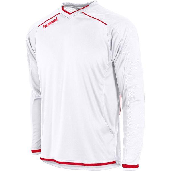 Hummel Leeds Voetbalshirt Lange Mouw Heren - Wit / Rood