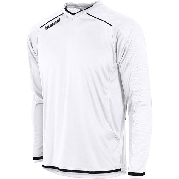 Hummel Leeds Voetbalshirt Lange Mouw Heren - Wit / Zwart