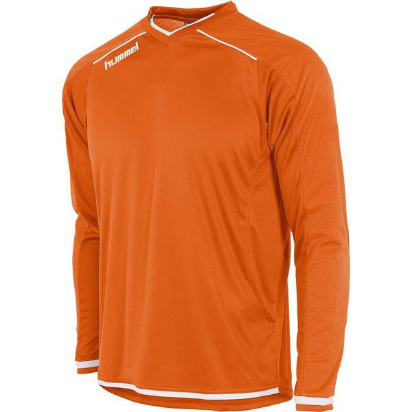 Hummel Leeds Voetbalshirt Lange Mouw Kinderen - Oranje / Wit