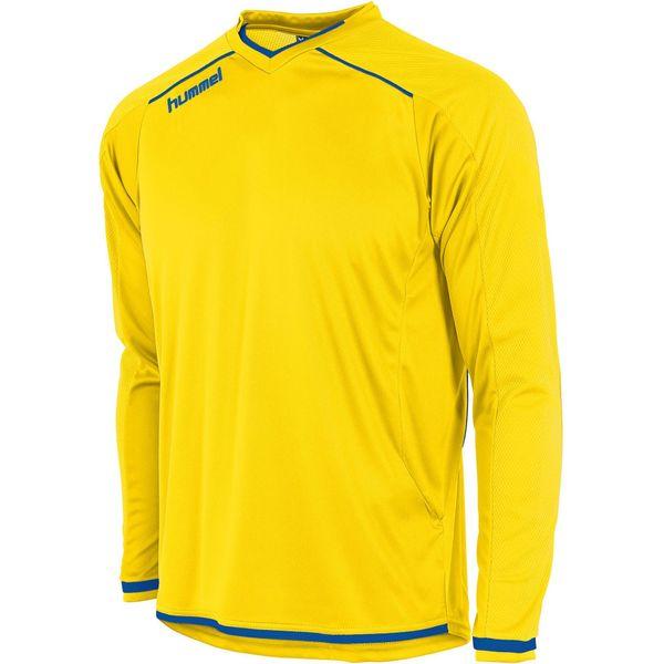 Hummel Leeds Voetbalshirt Lange Mouw Kinderen - Geel / Royal