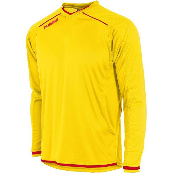 Hummel Leeds Voetbalshirt Lange Mouw Heren - Geel / Rood