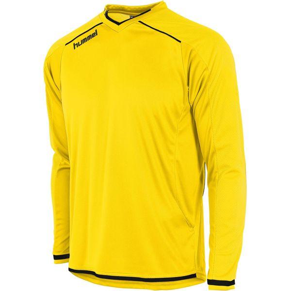 Hummel Leeds Voetbalshirt Lange Mouw Heren - Geel / Zwart