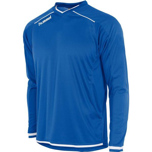 Hummel Leeds Voetbalshirt Lange Mouw Heren - Royal / Wit