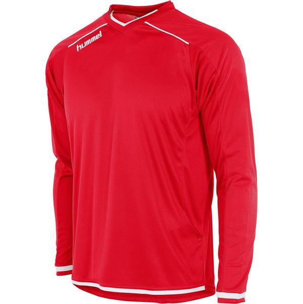 Hummel Leeds Voetbalshirt Lange Mouw Kinderen - Rood / Wit