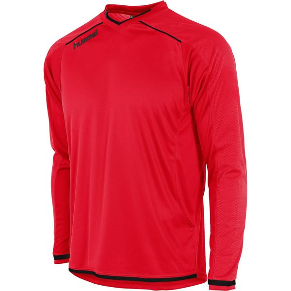 Hummel Leeds Voetbalshirt Lange Mouw Heren - Rood / Zwart