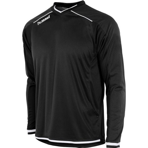 Hummel Leeds Voetbalshirt Lange Mouw Kinderen - Zwart / Wit