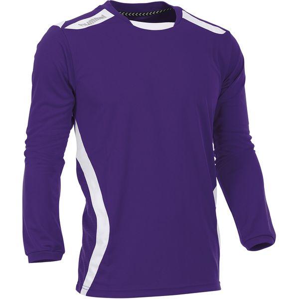 Hummel Club Voetbalshirt Lange Mouw Heren - Paars / Wit
