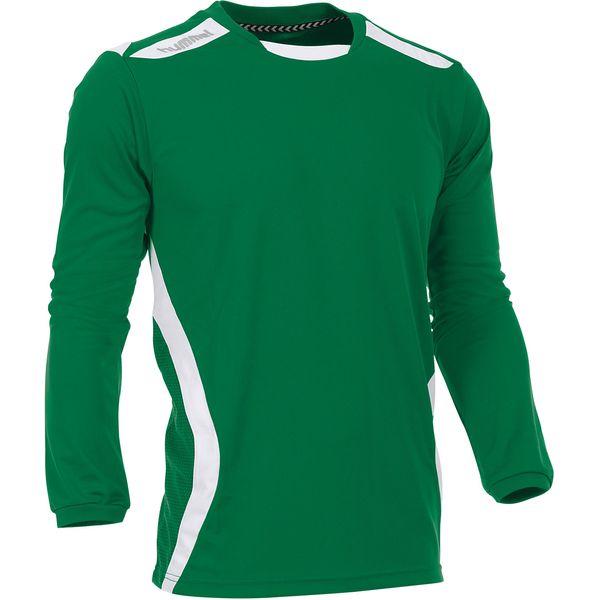 Hummel Club Voetbalshirt Lange Mouw Heren - Groen / Wit