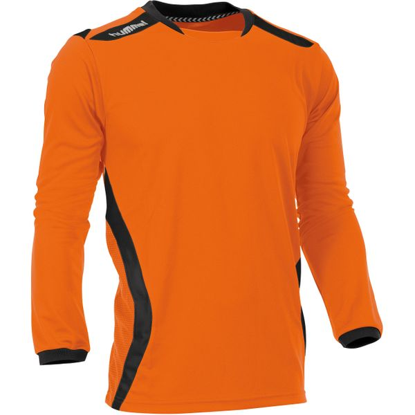 Hummel Club Voetbalshirt Lange Mouw Heren - Oranje / Zwart
