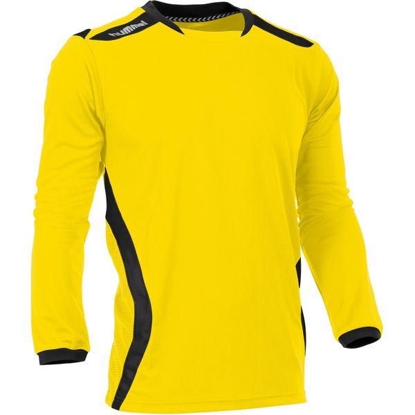 Hummel Club Voetbalshirt Lange Mouw - Geel / Zwart