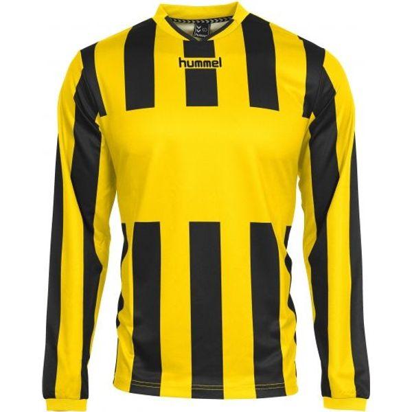 Hummel Madrid Voetbalshirt Lange Mouw Heren - Geel / Zwart