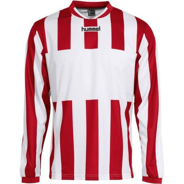 Hummel Madrid Voetbalshirt Lange Mouw Kinderen - Wit / Rood