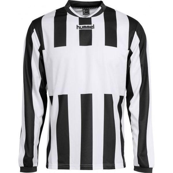 Hummel Madrid Voetbalshirt Lange Mouw Kinderen - Wit / Zwart