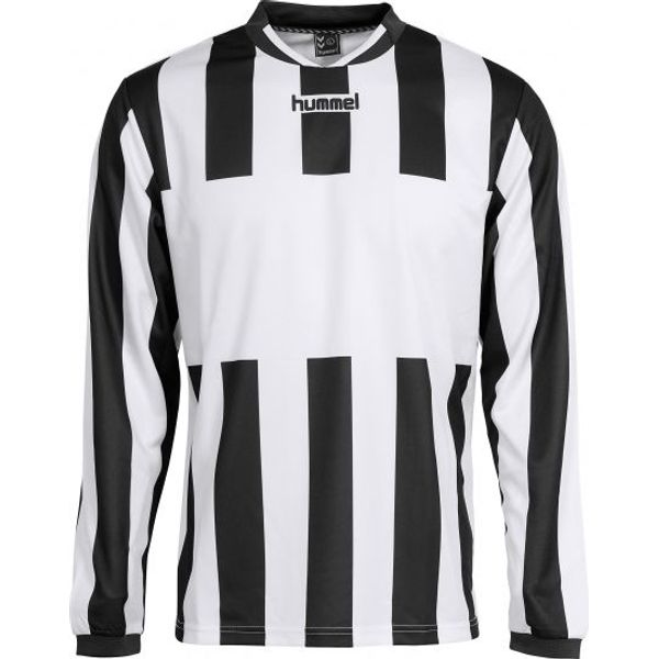 Hummel Madrid Voetbalshirt Lange Mouw Heren - Wit / Zwart