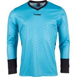Voorvertoning: Hummel Hannover Keepershirt Lange Mouw Kinderen - Aqua Blue / Zwart