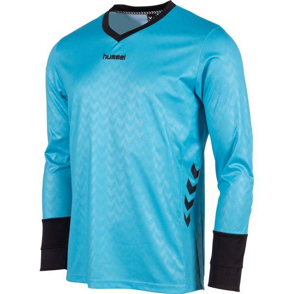 Hummel Hannover Keepershirt Lange Mouw - Aqua Blue / Zwart