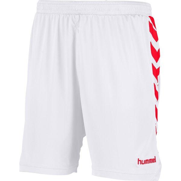 Hummel Burnley Short Kinderen - Wit / Rood