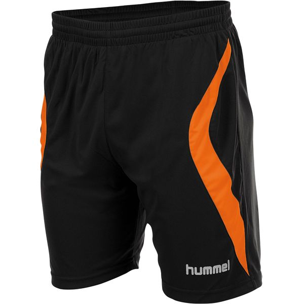 Hummel Manchester Short Heren - Zwart / Oranje