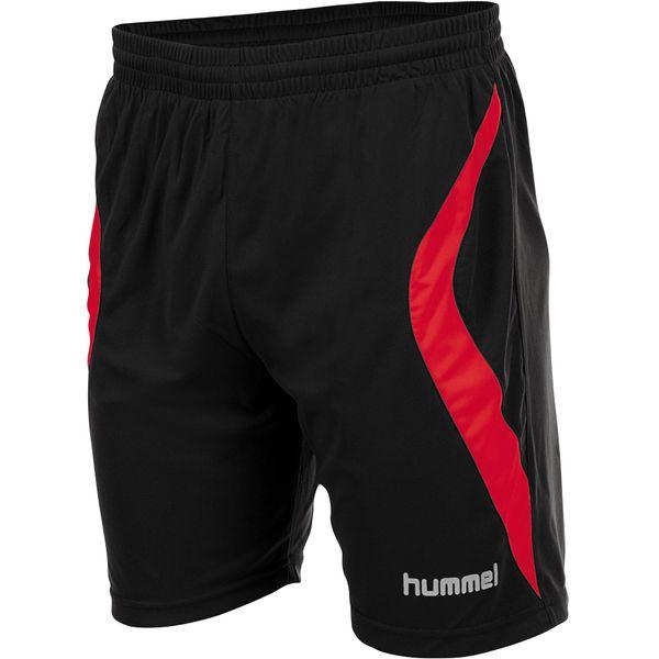 Hummel Manchester Short Kinderen - Zwart / Rood