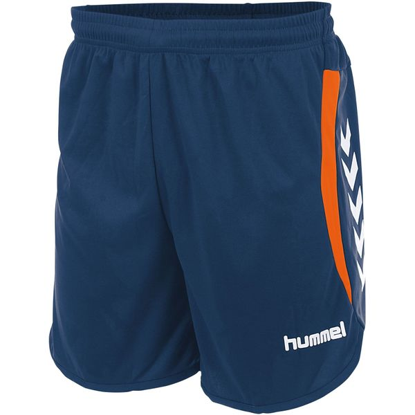 Hummel Odense Short Heren - Dark Denim / Shocking Orange