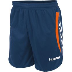 Voorvertoning: Hummel Odense Short Heren - Dark Denim / Shocking Orange