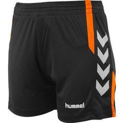 Hummel Aarhus Short Dames - Zwart / Fluo Oranje