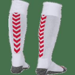 Hummel Denmark Chaussettes De Football - Blanc / Rouge