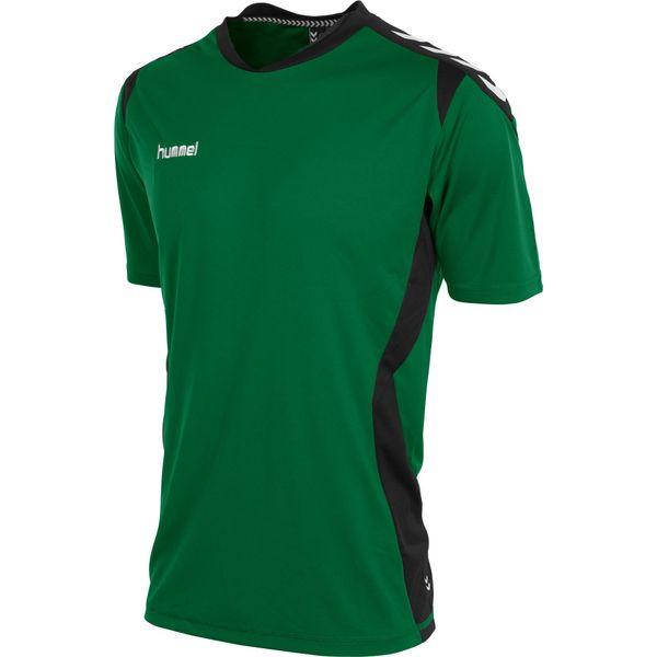 Hummel Paris T-Shirt Heren - Groen / Zwart